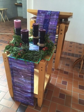 Advent Reflect! Silk Table covering Norbertine Abbey Albuquerque, NM