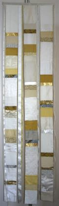"White With gold & silver 16"" x 5'   175 2' x 8'      300 3' x 12'    400 5' x 12'    675    (five panels)"