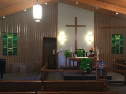 Green Celebrate! with Reflect! paraments Resurrection Lutheran Church Ankeny, IA