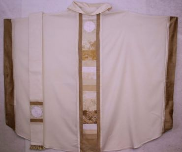 White Chasuble & Understole OL of the Most Holy Rosary Albuquerque, NM