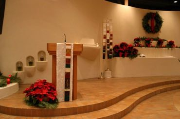 Christmas Reflect! Ambo parament OL of the Most Holy Rosary Albuquerque, NM