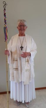 Hand-painted silk Chasuble Simple Stole