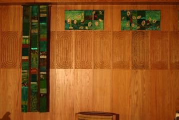 Green Celebrate! and quilted Growth panels Fairfield University Fairfield, CT