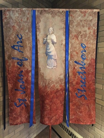Parish Processional Banner for Chrism Mass St Joan of Arc Streetboro, OH 2016