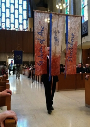 St Joan of Arc  Banner in Procession
