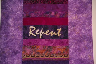 "Detail of ""Repent"""
